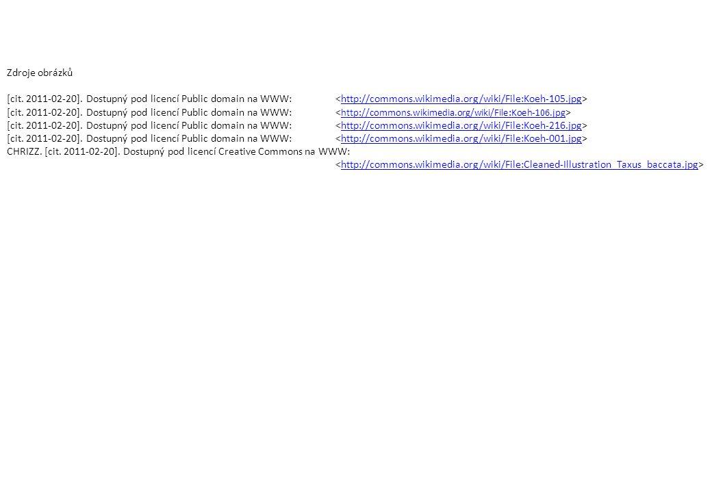 Zdroje obrázků [cit. 2011-02-20]. Dostupný pod licencí Public domain na WWW: <http://commons.wikimedia.org/wiki/File:Koeh-105.jpg>